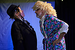 Germany, Berlin, 2018/03/26<br /> <br /> Theaterprobe des Deutsch-Jüdischen Theaters im COUPÈ Theater für das Stück Benjamin- – wohin? Besetzung: Rea Andrea Kurmann (Sender), Alexandra Julius Fröhlich (Benjamin), Joachim Kelsch. Regie: Evgenija Rabinovitch. Klavier und Komposition: Alexander Gutman (schwarzer Anzug) <br /> (Photo by Gregor Zielke)