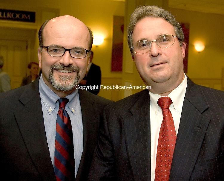 SOUTHBURY, CT-11 SEPTEMBER 2006-091106JS07-Dr. Paul Kelly, left and Dr. Henry Borkowski, both cardiologist's with the  Heart Center of Greater Waterbury, at the Saint Mary's Hospital Foundation 2006 Dinner of Champions held at the Crowne Plaza in Southbury. Dr, Borkowski was also co-chairman for the Dinner Committe for the event. -Jim Shannon Republican-American