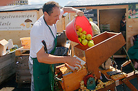 Pressage de pommes du Limousin