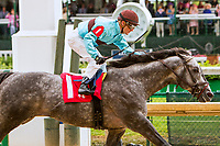 LOUISVILLE, KY - MAY 05: Bird Song with Julien Leparoux wins the Alysheba on Kentucky Oaks Day at Churchill Downs on May 5, 2017 in Louisville, Kentucky. (Photo by Sue Kawczynski/Eclipse Sportswire/Getty Images)