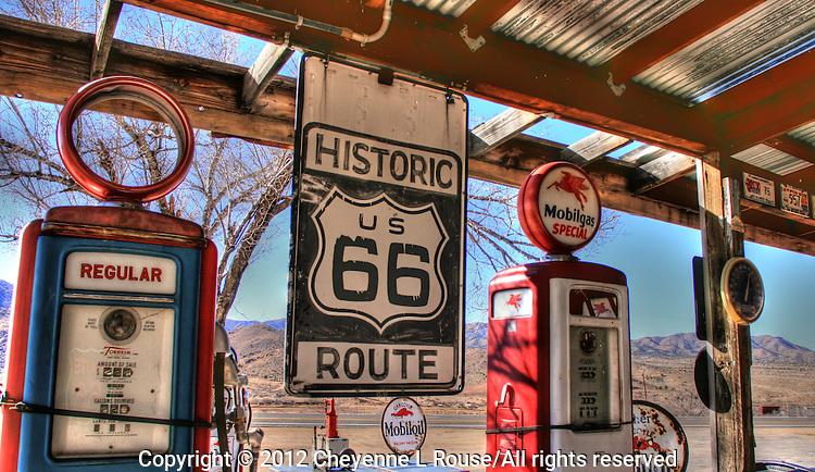Hackberry Gas Pumps - Route 66 - Arizona