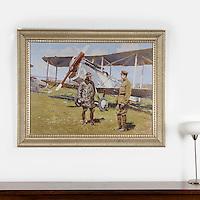 "Boucher: Airplane American Liberty, Digital Print, Image Dims. 33"" x 35, Framed Dims. 44"" x 55"""