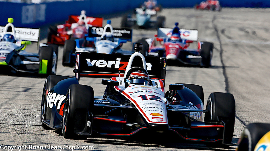 Will Power races to victory, Milwaukee Indy Fest 250, Milwaukee Mile Speedway, Milwaukee, WI, August 2014.  (Photo by Brian Cleary/www.bcpix.com)