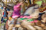 A child on the carousel on Boston Common, Boston, Massachusetts, USA