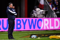 9th February 20020, Stade de France, Paris, France; 6-Nations international mens rugby union, France versus Italy;   Franco Smith  trainer of Italy watches the game carefully