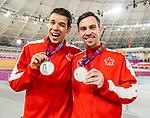 Lima, Peru -  26/August/2019 - Andrew Davidson and Lowell Taylor take the silver in men's individual pursuit B in track cycling at the Parapan Am Games in Lima, Peru. Photo: Dave Holland/Canadian Paralympic Committee.