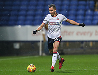 Bolton Wanderers' Pawel Olkowski <br /> <br /> Photographer Andrew Kearns/CameraSport<br /> <br /> The EFL Sky Bet Championship - Bolton Wanderers v Leeds United - Saturday 15th December 2018 - University of Bolton Stadium - Bolton<br /> <br /> World Copyright &copy; 2018 CameraSport. All rights reserved. 43 Linden Ave. Countesthorpe. Leicester. England. LE8 5PG - Tel: +44 (0) 116 277 4147 - admin@camerasport.com - www.camerasport.com