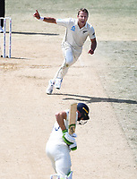 25th November 2019; Mt Maunganui, New Zealand;  Neil Wagner celebates the wicket of Butler International test match day 5 of 1st test, New Zealand versus England;  at Bay Oval, Mt Maunganui, New Zealand.