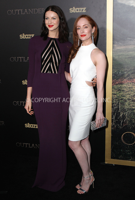 WWW.ACEPIXS.COM<br /> <br /> April 1 2015, New York City<br /> <br /> Actresses Caitriona Balfe (L) and Lotte Verbeek arriving at the 'Outlander' mid-season New York premiere at Ziegfeld Theater on April 1, 2015 in New York City.<br /> <br /> By Line: Nancy Rivera/ACE Pictures<br /> <br /> <br /> ACE Pictures, Inc.<br /> tel: 646 769 0430<br /> Email: info@acepixs.com<br /> www.acepixs.com