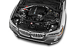 Car Stock 2017 BMW X3 sDrive28i 5 Door SUV Engine  high angle detail view