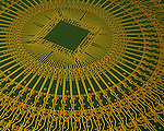 Radial or circular printed circuit board for computerized equipment, USA .  John leads private photo tours in Boulder and throughout Colorado. Year-round Colorado photo tours.