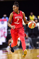 Washington, DC - July 13, 2018: Washington Mystics guard Ariel Atkins (7) brings the ball up court during game between the Washington Mystics and Chicago Sky at the Capital One Arena in Washington, DC. The Mystics defeat the Sky 88-72 (Photo by Phil Peters/Media Images International)
