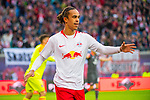 07.10.2018, Red Bull Arena, Leipzig, GER, 1. FBL 2018/2019, RB Leipzig vs. 1. FC N&uuml;rnberg/Nuernberg,<br /> <br /> DFL REGULATIONS PROHIBIT ANY USE OF PHOTOGRAPHS AS IMAGE SEQUENCES AND/OR QUASI-VIDEO.<br /> <br /> im Bild<br /> <br /> <br /> 2:0 F&uuml;hrung f&uuml;r RB Leipzig durch Yussuf Poulsen (#9, RB Leipzig), <br /> <br /> Foto &copy; nordphoto / Dostmann