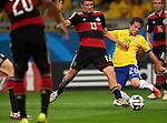 Thomas Muller (GER), Bernard (BRA),<br /> JULY 8, 2014 - Football / Soccer : FIFA World Cup 2014 semi-finals match between Brazil 1-7 Germany at Mineirao stadium in Belo Horizonte, Brazil.<br /> (Photo by FAR EAST PRESS/AFLO)