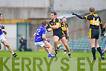 Eoin Brosnan of Dr Crokes and Sean Collins of Cratloe in the AIB Munster Senior Football Final played last Sunday in The Gaelic Grounds, Limerick.