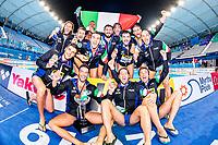 ITA - Italy Gold Medal<br /> Gwangju South Korea 27/07/2019<br /> Waterpolo Spain v. Italy ESP - ITA Gold Final<br /> 18th FINA World Aquatics Championships<br /> Nambu University Grounds <br /> Photo © Giorgio Scala/ Deepbluemedia / Insidefoto