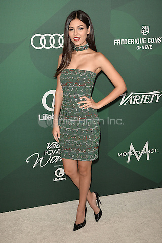BEVERLY HILLS - OCTOBER 14:  Victoria Justice at Variety's Power Of Women Luncheon 2016 at the Beverly Wilshire Four Seasons Hotel on October 14, 2016 in Beverly Hills, California. Credit: mpi991/MediaPunch