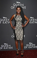 "20 September 2016 - Hollywood, California - Phiona Mutesi. ""Queen Of Katwe"" Los Angeles Premiere held at the El Capitan Theater in Hollywood. Photo Credit: AdMedia"