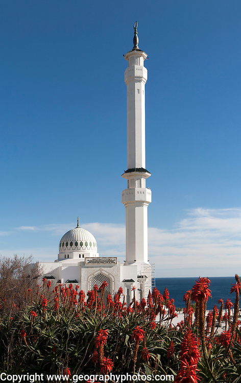 Mosque of the Custodian of the Two Holy Mosques, Europa Point, Gibraltar, British overseas territory in southern Europe