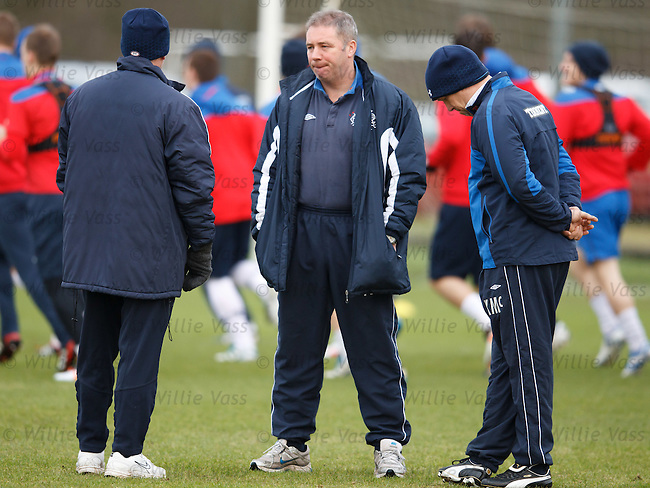 Ally McCoist deep in thought