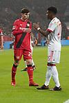 12.01.2018, BayArena, Leverkusen , GER, 1.FBL., Bayer 04 Leverkusen vs. FC Bayern M&uuml;nchen<br /> im Bild / picture shows: <br /> freundschaftliche Geste Kai Havertz (Leverkusen #29),  David Alaba (Bayern Muenchen #27),  <br /> <br /> <br /> Foto &copy; nordphoto / Meuter
