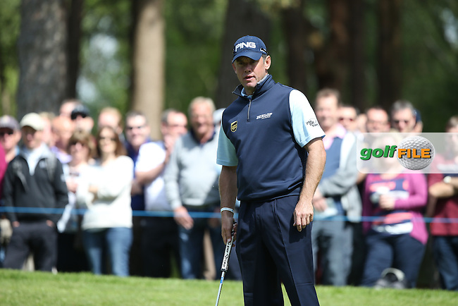 Lee Westwood (ENG)  during Round One of the 2015 BMW PGA Championship over the West Course at Wentworth, Virginia Water, London. Picture David Lloyd, www.golffile.ie: 21/05/2015