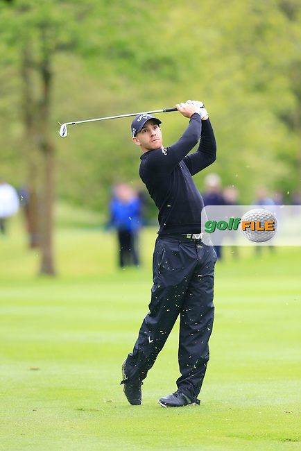 Estanislao Goya (ARG) plays his 2nd shot on the 17th hole during Thursday's Round 1 of the 2016 Dubai Duty Free Irish Open hosted by Rory Foundation held at the K Club, Straffan, Co.Kildare, Ireland. 19th May 2016.<br /> Picture: Eoin Clarke | Golffile<br /> <br /> <br /> All photos usage must carry mandatory copyright credit (&copy; Golffile | Eoin Clarke)