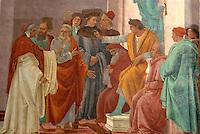 Italien, Toskana, Florenz, Fresken von Masaccio und Masolino in der Brancacci-Kapelle der Kirche Santa Maria del Carmine