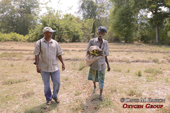Interviewing Farmer