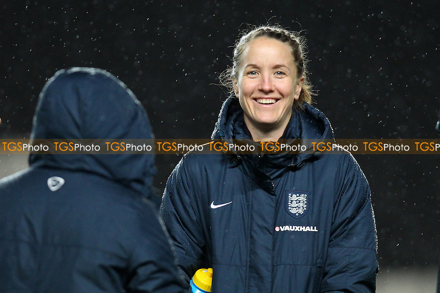 Casey Stoney of England of England looks on ahead of kick-off - England Women vs USA Women - International Football Friendly Match at Stadium MK, Milton Keynes Dons FC - 13/02/15 - MANDATORY CREDIT: Gavin Ellis/TGSPHOTO - Self billing applies where appropriate - contact@tgsphoto.co.uk - NO UNPAID USE
