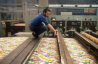 - fabric printing plant....- stamperia di tessuti