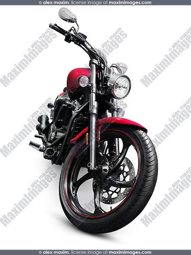 2013 Yamaha Star V 1300 motorbike. Isolated motorcycle on white background with clipping path