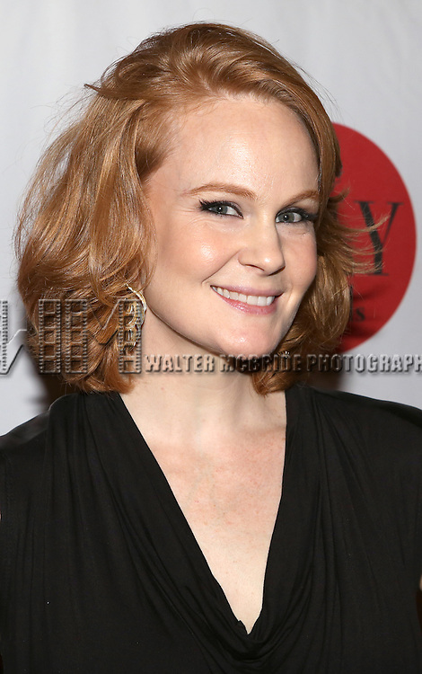 Kate Baldwin backstage at The Lilly Awards Broadway Cabaret'   at The Cutting Room on November 9, 2015 in New York City.