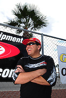 Oct. 31, 2008; Las Vegas, NV, USA: NHRA funny car driver Cruz Pedregon during qualifying for the Las Vegas Nationals at The Strip in Las Vegas. Mandatory Credit: Mark J. Rebilas-