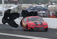 Apr 13, 2019; Baytown, TX, USA; NHRA pro mod driver Alex Laughlin during qualifying for the Springnationals at Houston Raceway Park. Mandatory Credit: Mark J. Rebilas-USA TODAY Sports