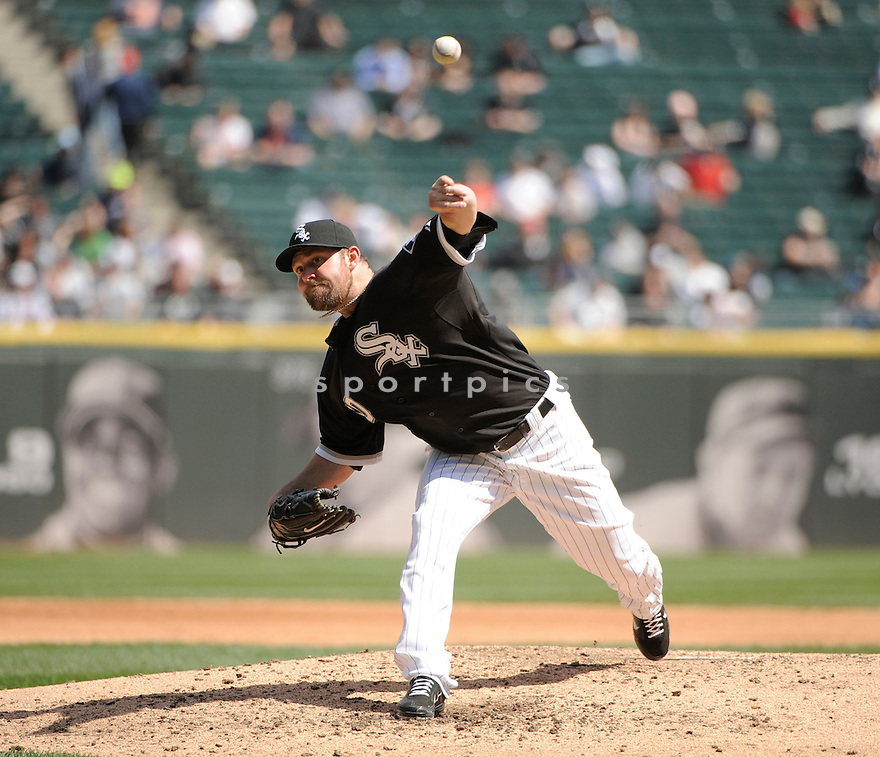 JOHN DANKS, of the Chicago White Sox, in action during the Sox game against the Oakland A's on April 13, 2011 at US Cellular Field in Chicago, Illinois.  The Oakland A's beat the Chicago White Sox 7-4.