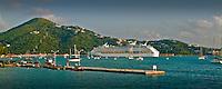 Charlotte Amalie, St Thomas, Cruise Ship, Docked, Virgin Islands, Caribbean, Island, USVI,