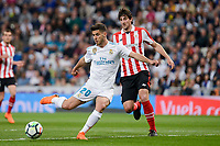 Real Madrid Marco Asensio and Athletic Club Mikel San Jose during La Liga match between Real Madrid and Athletic Club at Santiago Bernabeu Stadium in Madrid. April 19, 2017. (ALTERPHOTOS/Borja B.Hojas) /NortePhoto.com
