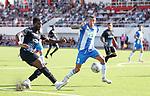 09.07.2019: St Joseph's v Rangers: Sheyi Ojo crosses in past Mauri