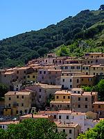 Blick auf Rio nell' Elba, Elba, Region Toskana, Provinz Livorno, Italien, Europa<br /> Rio nell' Elba, Elba, Region Tuscany, Province Livorno, Italy, Europe