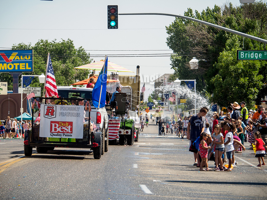 Independence Day celebration on Winnemucca Boulevard for July 4th during the Silver State International Rodeo, Winnemucca, Nev.