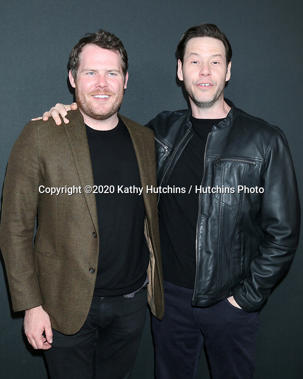 """LOS ANGELES - MAR 9:  Nick Cuse, Ike Barinholtz at the """"The Hunt"""" Premiere at the ArcLight Hollywood on March 9, 2020 in Los Angeles, CA"""