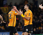 Raul Jimenez of Wolverhampton Wanderers reacts after he heads wide during the Premier League match at Molineux, Wolverhampton. Picture date: 14th February 2020. Picture credit should read: Darren Staples/Sportimage