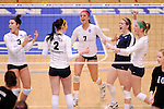 03 DEC 2011:  Concordia University St. Paul celebrates a point against Cal State San Bernardino during the Division II Women's Volleyball Championship held at Coussoulis Arena on the Cal State San Bernardino campus in San Bernardino, Ca. Concordia St. Paul defeated Cal State San Bernardino 3-0 to win the national title. Matt Brown/ NCAA Photos