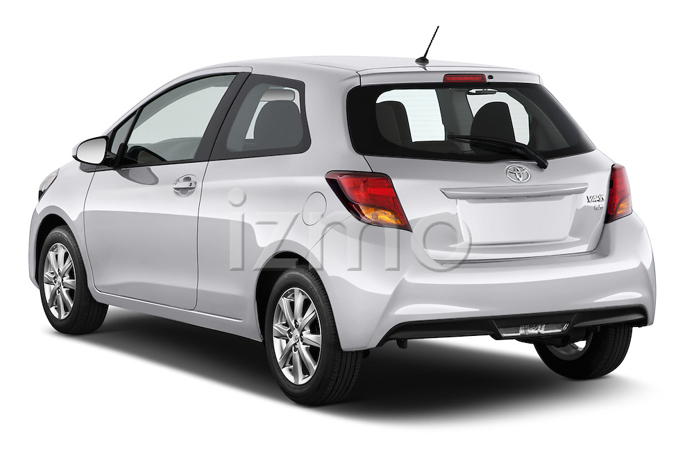 Car pictures of rear three quarter view of a 2015 Toyota Yaris LE 3-Door Liftback AT 3 Door Hatchback Angular Rear