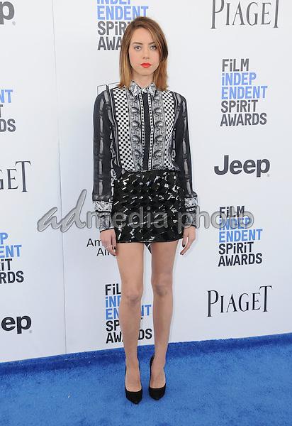 25 February 2017 - Santa Monica, California - Aubrey Plaza. 2017 Film Independent Spirit Awards held held at the Santa Monica Pier. Photo Credit: Birdie Thompson/AdMedia