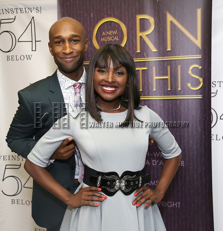 "Donald Webber Jr. and Loren Lott backstage after a Song preview performance of the Bebe Winans Broadway Bound Musical ""Born For This"" at Feinstein's 54 Below on November 5, 2018 in New York City."