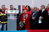 Carmelo Barbagallo, Annamaria Furlan e Maurizio Landini<br /> Rome February 9th 2019. Demonstration of the three Italian trade unions, CGIL, CISL, UIL.<br /> Foto Samantha Zucchi Insidefoto
