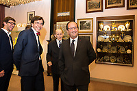 François Hollande visits the Duesberg Museum in Mons - Belgium