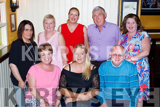 Claire Lyne Firies was given a fond farewell by her colleagues in Karry Parents and Friends in the Porter house Killlarney on Friday night front row l-r: Catriona Brosnan, Claire Lyne, and Michael Brosnan. Back row: Mary Cronin, Nora Sheehan, Tracy Ferris, Tim O'Keeffe and Tina Slabys